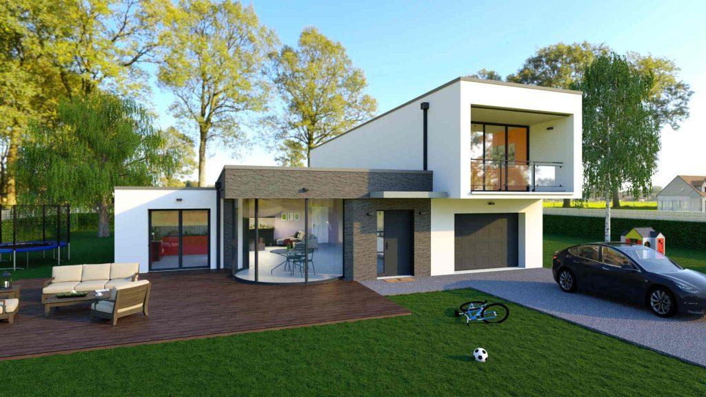 constructeur-maison-sur-mesure-pmr-R+1-moderne