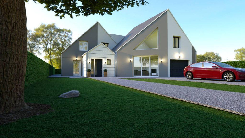 constructeur-maison-sur-mesure-pmr-R+C-moderne-façade-avant